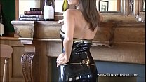 Classy latex babe Jerris solo softcore posing in rubber fetishwear and beautiful thumbnail