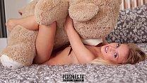 Erotic nude teen top model Monika Tempe photo shoot for Plushies TV
