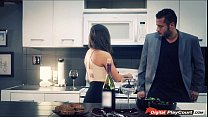 Abigail Mac gives her husband blowjob for their...