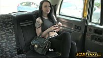 Pretty Alessa gets her sweet pussy pounded as her payment for the taxi