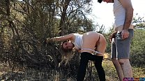 blonde creampie'd by personal trainer outdoors - Erin Electra