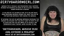 Dirtygardengirl warhead dildo anal extreme & prolapse
