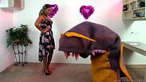Nina Rivera chooses her own pet vore monster!
