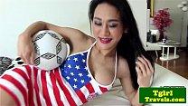 Soccer playing ladyboy Emma pov blowjob