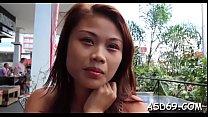 Wet thai slut enjoys a big 10-pounder