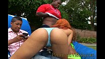 black threesome fuck with hot sexy bitches thumbnail