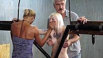 Blonde slave in BDSM action
