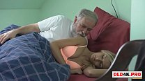 grandpa has morning sex with her young girlfriend