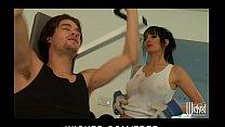 Big-tit brunette slut trainer Alektra Blue fucks big-dick in gym