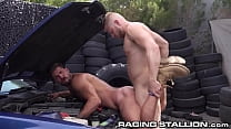 Big Muscled Hunks Would Rather Suck Dick Than Fix Car - RagingStallion