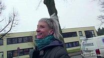 German Scout - Skinny Emo Teen Luna in Street Porn Casting Vorschaubild