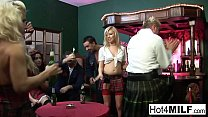 A wild orgy breaks out in a Scottish bar!