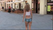 Susanna Spears Body-Art Naked girl in public image