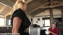Gorgeous Blonde MILF Seduces Her Stepson!