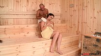 Incredibly horny sauna babe Paige Turnah fucks ...