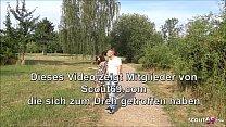 Outdoor Dreier fuer Deutsche Studentin mit Mega Schwanz Fluechtling und seinem Freund - German Interracial - VideoMakeLove.Com