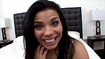 Thick petite Latina Selena Rios wrecked by a bi... thumb