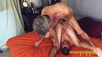 Bareback Gay Twink & Daddy Piledriver Fuck - Tristan Sweet - Richard Lennox