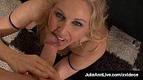 Beautiful Cougar Julia Ann Blows Cock & Spits Cum On Feet!
