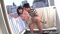 JAVHUB Japanese teen fucked from behind on the ...