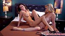 Hot Milf Julia Ann is a Lusty Lesbo!