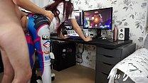 D.Va having a quickie while gaming - Miss Banana Image