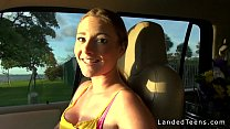 16737 Busty teen gives blowjob and gets fucked outdoor pov preview