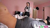 Schoolgirl teen stepsis badly needed a ride to school Vorschaubild