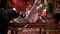 Caning fucking and Sybian riding at orgy party thumbnail