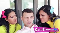 My Stepsisters Fucked Me To Get Into The Club - Maya Farrell, Alina Belle - FULL SCENE on http://StepSiblings3X.com