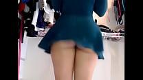 Bet upskirt ever ! Ebony mix latina showing off on cam Image