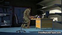 3D babe sucks cock and gets fuckedh hard by The Hulk缩略图