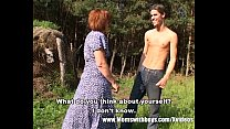 Skinny Farm Boy Outdoor Sex With Redhead Granny Thumbnail