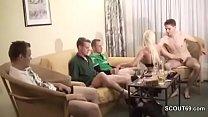 Hotwife Creampie: privater gangbang mit 5 typen nach der disco im hotel thumbnail