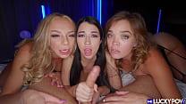 3 Hot Sluts Love To Share Cock