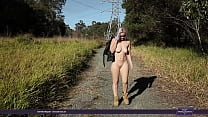 Tibbi naked pussy in the public park