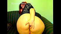 Sexy Redhead PAWG Anal Fingers Her Fat Ass