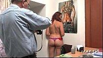 Image: Casting anal jeune et jolie rouquine francaise