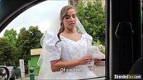 Euro teen bride Amirah Adara gets stood up and a mouthful of cum