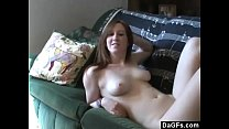 Dagfs - Horny Slut Haves Fun On A Couch And Sucks My Dick