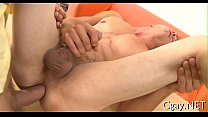 Frantic and wild gay sex