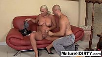 Busty blonde grandma takes it in the ass's Thumb