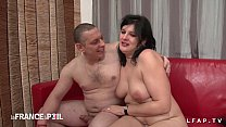 Casting of an amateur couple with a good slut sodomized and dildoed