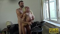 Mouth fucked and jizzed submissive squirts