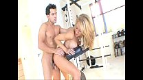 blonde Capri Cavalli gets drilled by her fitnes trainer