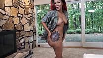 Newbie big booty ebony slut gets fucked in cast...