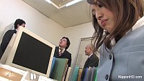Japanese babe gets fucked in the office thumbnail