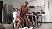 Teen Filipina maid will do anything to please her boss