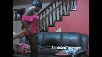 White dick inside black teen amateur
