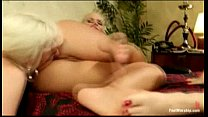 ASS FOOTING. LEsbians go wild with their hot feet and asses thumbnail